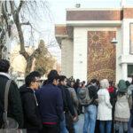 صف تهرانی ها برای اهدای خون در پی حادثه پلاسکو + عکس