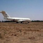 فرود هواپیما در بیابان های مشهد کذب است